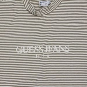 Vintage NWT GUESS JEANS U.S.A Striped Tee T-shirt